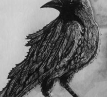 The Crow Against the Moon Sticker