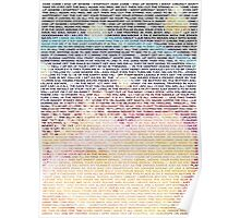 Radiohead - In Rainbows Lyrics T-Shirt Design #2 Poster