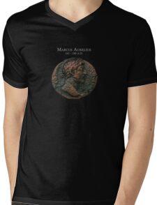 Ancient Roman Coin - MARCUS AURELIUS Mens V-Neck T-Shirt