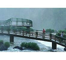 Walkway Iguasso Falls, Brazil Photographic Print