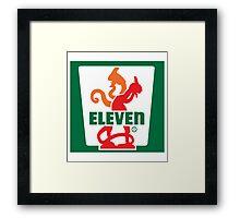 Savin' Eleven Framed Print