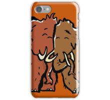 a couple of mammoth iPhone Case/Skin