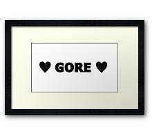Gore 7 Framed Print