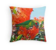 Musk Lorikeet Throw Pillow