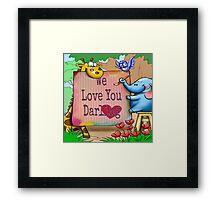 "For the children: ""We love you darling."" Framed Print"