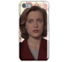 Floral Dana Scully iPhone Case/Skin