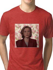 Floral Dana Scully Tri-blend T-Shirt