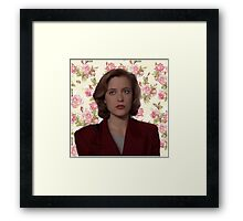 Floral Dana Scully Framed Print