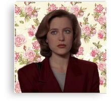 Floral Dana Scully Canvas Print