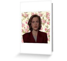 Floral Dana Scully Greeting Card