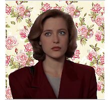 Floral Dana Scully Photographic Print