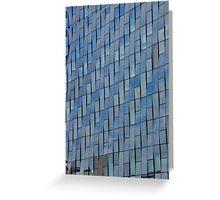 Blue Glass Facade Greeting Card