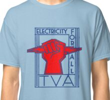 TVA-Electricity for All-Art Deco New Deal Logo Classic T-Shirt