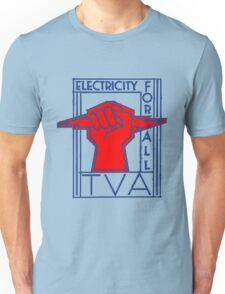 TVA-Electricity for All-Art Deco New Deal Logo Unisex T-Shirt