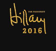 Black Hillary Clinton Shirts 2016 Gold Sequins Unisex T-Shirt