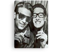 Buddy Holly and Waylon Jennings Canvas Print