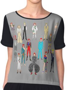 Bowie Scattered Fashion Chiffon Top