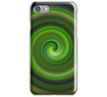 Green Swirl Abstract #1 iPhone Case/Skin