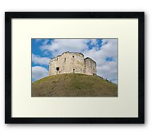 Clifford's Tower in York  historical building. Framed Print