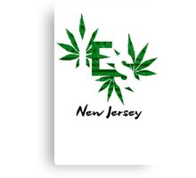 Cannabis New Jersey Legalization Canvas Print