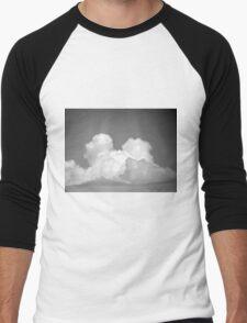Black And White Cloud 2 Men's Baseball ¾ T-Shirt