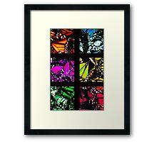 Fragmented Monarchy in Sharpie (Rainbow Edition) Framed Print