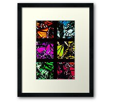 Fragmented Monarchy in Sharpie (Rainbow Edition) Framed Print