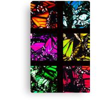 Fragmented Monarchy in Sharpie (Rainbow Edition) Canvas Print