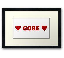 Gore 9 Framed Print