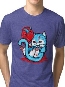 Cat Got Your Heart Tri-blend T-Shirt