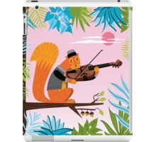 Red Squirrel Serenade iPad Case/Skin