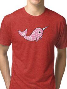Flowery Narwhal Tri-blend T-Shirt