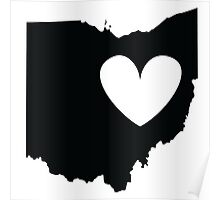Ohio is Where the Heart is (Black) Poster