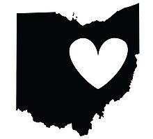 Ohio is Where the Heart is (Black) Photographic Print