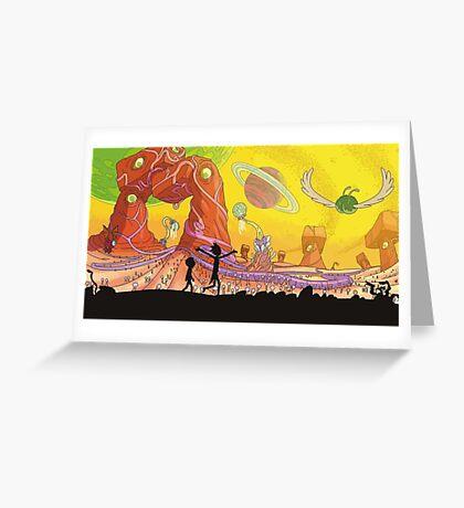 Rick and Morty Exploring Greeting Card