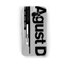 AGUST D ALBUM COVER Samsung Galaxy Case/Skin