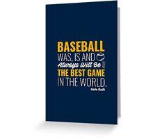 Babe Ruth Baseball Quote Greeting Card