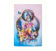 Buddha and the Butterfly Art Print