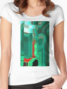 glitch1 Women's Fitted Scoop T-Shirt