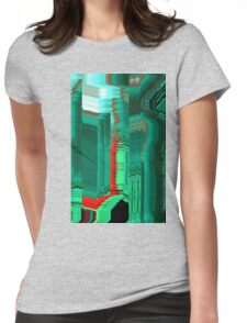 glitch1 Womens Fitted T-Shirt