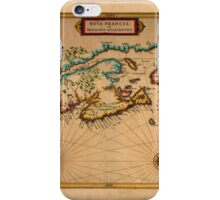 Map Of Canada 1630 iPhone Case/Skin
