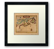 Map Of Canada 1630 Framed Print