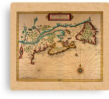 Map Of Canada 1630 Canvas Print