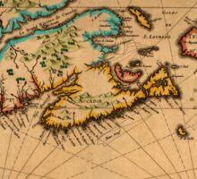 Map Of Canada 1630 Sticker