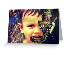 Cyborg baby Greeting Card