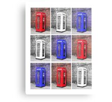 Patriot Phonebox Metal Print