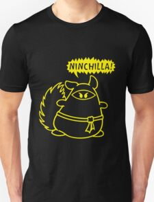 The Ninja Chinchilla - Yellow Unisex T-Shirt