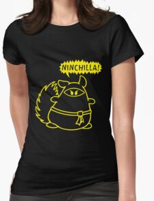 The Ninja Chinchilla - Yellow Womens Fitted T-Shirt