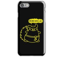 The Ninja Chinchilla - Yellow iPhone Case/Skin