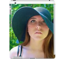 Girl with Floppy Hat iPad Case/Skin